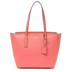 kate spade medium margaux peach leather tote bag